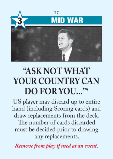 """Ask Not What Your Country Can Do For You..."""
