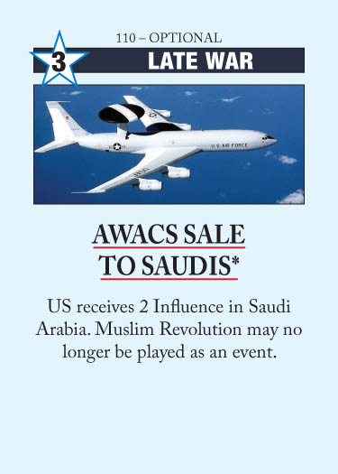 AWACS Sale to Saudis