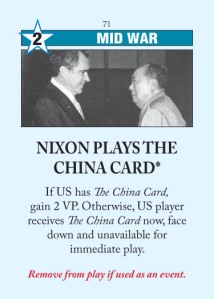 Nixon Plays the China Card